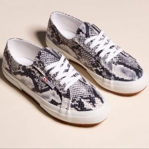 Superga 2750 Pufanw Sneakers in Natural Snake